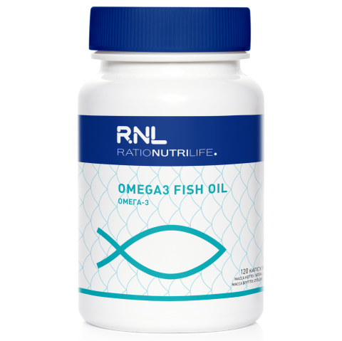 RatioNutriLife «Омега-3» («Omega3 Fish oil 50% EPA / 25% DHA softgel TG Capsules»), 120 шт.
